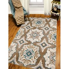 Found it at Wayfair.ca - Natural Cerulean blue/Tan Area Rug