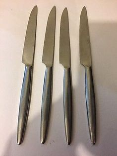 Vintage 50s/60s Modernist Wostenholm cutlery Monte Carlo dinner knives x4