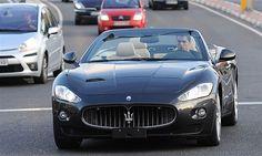 Cristiano Ronaldo at the wheel of a Maserati GranCabrio