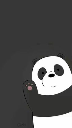 Panda We Bare Bears Wallpaper Black Background Cute Panda Wallpaper, Cartoon Wallpaper Iphone, Disney Phone Wallpaper, Bear Wallpaper, Kawaii Wallpaper, Cute Wallpaper Backgrounds, Wallpaper Wallpapers, Photo Wallpaper, Trendy Wallpaper