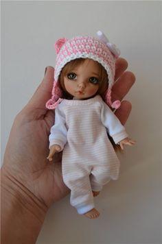 Пижамки + шапочки для Pukifee и подобных кукол ростом 15-16 см. / Все для BJD / Шопик. Продать купить куклу / Бэйбики. Куклы фото. Одежда для кукол