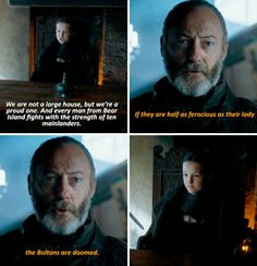 Game of Thrones: Lyanna Mormont of House Mormont on Bear island. Davos just said what we all were thinking.