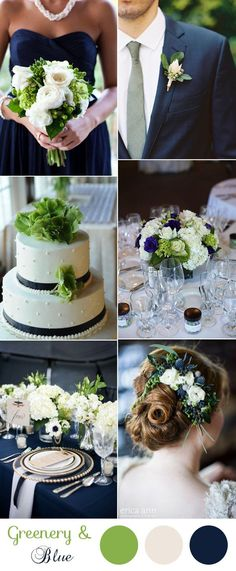 classic navy blue organic wedding ideas