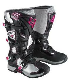Shop for Boots, like Fox Racing Women's Comp 5 Boots 2015 at Rocky Mountain ATV/MC. We have the best prices on dirt bike, atv and motorcycle parts, apparel and accessories and offer excellent customer service. Dirt Bike Boots, Dirt Bike Helmets, Motorcycle Boots, Mx Boots, Biker Boots, Motocross Girls, Motocross Gear, Motocross Clothing, Motorcross Bike