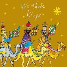 From 4.99 Pack Of 10 Quentin Blake Marie Curie Charity Christmas Cards - Three Kings