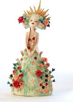 By Clairy Laurence Pottery Sculpture, Sculpture Art, Ceramic Sculptures, Ceramic Pottery, Pottery Art, Pottery Ideas, Porcelain Clay, Painted Porcelain, Happy Colors