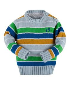 Another great find on #zulily! Light Blue Stripe Sweater - Infant, Toddler & Boys #zulilyfinds
