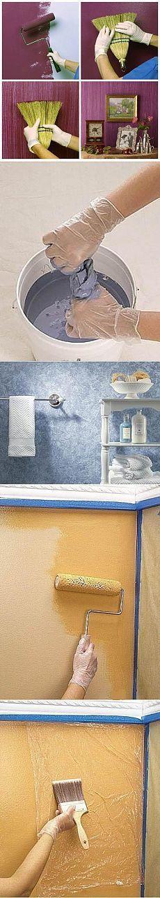 Интересные идеи при покраске стен.