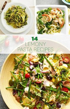 14 Delicious Lemon Pasta recipes