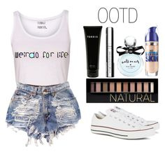 """""""OOTD #23"""" by luvfashionista101 ❤ liked on Polyvore featuring Converse, Torrid, By Terry, Maybelline, Forever 21, Kate Spade and ootd"""