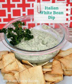 Maybe I Will... Giada's Italian White Bean Dip!!! #whitebeandip #giada #appetizer