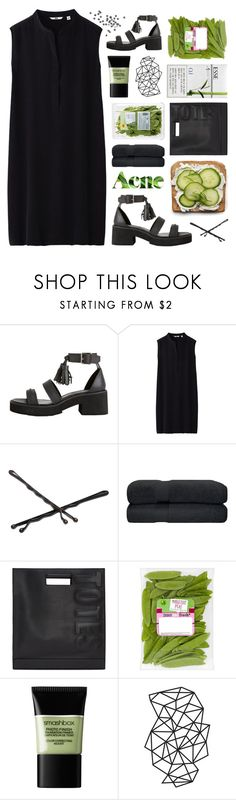 """""""~but darlin' i don't mean to beg but these thorns on the stem are nearly tearing up my skin~"""" by m-ade-line ❤ liked on Polyvore featuring Uniqlo, Goody, Acne Studios, 3.1 Phillip Lim, Esse, Smashbox and WALL"""