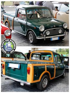 Mornin Miniacs Thinking of running a different theme today, seen a few Minis sporting some woodwork of 1 type or another recently so let's have a look at some Timber Clad Thursday Minis! Starting with this wicked Pickup that's had a Woody makeover. Very unusual but very cool too. Have a great day folks