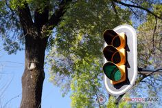 Stockphotosbank: Traffic light showing green. Mexico City.