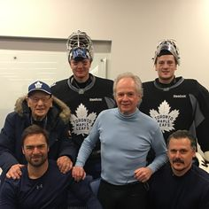 """Goalie bebes bower cujo paaaaaalmateer and my boy Felix the cat 20.5k Likes, 198 Comments - Frederik Andersen (@frederikandersen31) on Instagram: """"It was always a pleasure crossing paths with you Mr Bower and great honor to carry on in the Leafs…"""""""