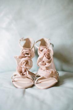 rose wedding shoes