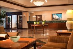 Front Desk and Lobby of our Dulles Airport Hotel