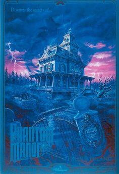 Original Phantom Manor attraction poster - Disneyland Paris