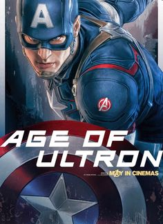Captain America - New AVENGERS: AGE OF ULTRON Character Promo Posters Revealed