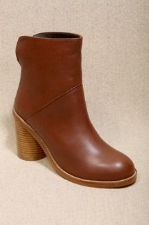 Surface To Air Tan Stacked Heel Boots