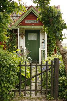 Allotment garden in Sweden.