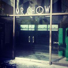"Mr Chow Restaurant...""The Memories"""