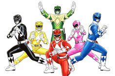 Mighty Morphin Power Rangers by Brendon Fraim