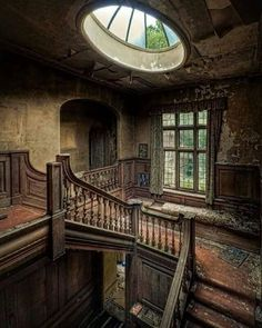 Abandoned Manor House in London, England..