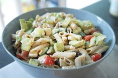 Recept: Mediterrane pastasalade Potato Salad, Avocado, Potatoes, Ethnic Recipes, Blog, Zucchini, Lawyer, Potato, Blogging