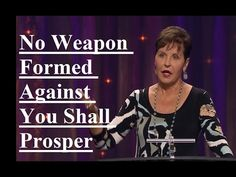 Joyce Meyer - No Weapon Formed Against You Shall Prosper Sermon 2017 Joyce Meyer Blessed Sermon No Weapon Formed Against You Shall Prosper Joyce Meyer Sermons, Joyce Meyer Quotes, Joyce Meyer Ministries, Niv Bible, Scripture Quotes, Scriptures, Christian Movies, Christian Faith, No Weapon Formed