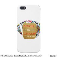 Poker Champion - Zazzle PlayingCards design Cover For iPhone SE/5/5s
