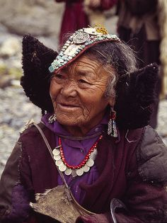 Ladakh Woman, India #world #cultures