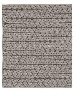 Triango Wool Rug - Grey/Charcoal