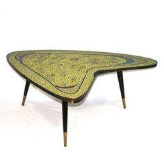 Located using retrostart.com > Boomerang Coffee Table by Berthold Müller Oerlinghausen for Berthold Müller Mosaikwerkstätten