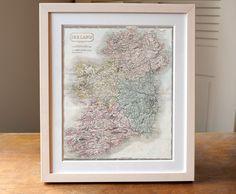 Antique Map of Ireland Print