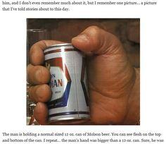 アンドレ・ザ・ジャイアントが缶ビールを持つとこうなります