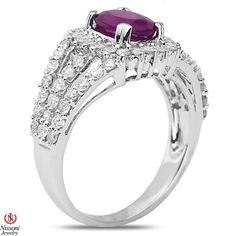 Ebay NissoniJewelry presents - 1CT Diamond Fashion Ring with Ruby 14k White Gold  1CT    Model Number:FRV4377K-W453RU    http://www.ebay.com/itm/1CT-Diamond-Fashion-Ring-with-Ruby-14k-White-Gold-1CT/221630448534