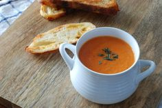 Simply So Good: Creamy Tomato Thyme Soup & Cheddar Cheese Toast