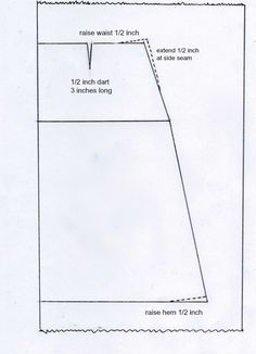 A line skirt pattern tutorial: New and improved version.