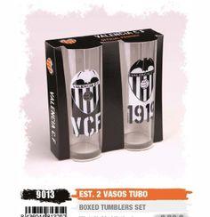 Valencia C.F. Estuche 2 Vasos Tubo - Conjunto de 2 Vaso de tubo Valencia C.F.