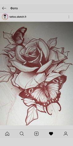 Rosa Tattoo P, Backpiece Tattoo, Rose Drawing Tattoo, Body Art Tattoos, Tattoo Drawings, Rose Drawings, Tattoos Skull, Art Drawings, Neo Traditional Roses