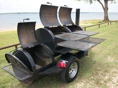 Trailer for a rotisserie BBQ smoker grill.   Best Charcoal and Gas ...