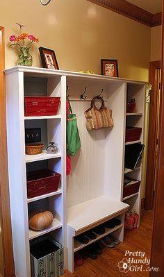 Built-in Hallway Storage. Shoe Storage Bench for Mudroom by Pretty Handy Girl
