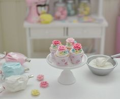 Sweet Petite Shabby Chic Play Scale Cupcakes by SweetPetiteShoppe, $27.00