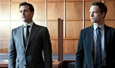 USA Network Original Series - Suits stars Patrick J. Adams as Michael Mike Ross and Gabriel Macht as Harvey Specter working at a law firm in NYC. Suits Tv Series, Suits Tv Shows, Suits Season 1, Biography Film, Sarah Rafferty, Gina Torres, Suits Usa, Gabriel Macht, Wife And Kids