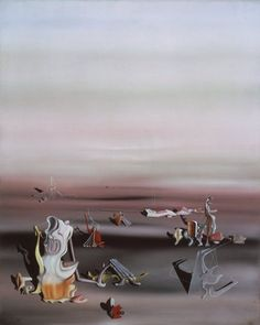 'Arrieres-pensees' (Second Thoughts), by Yves Tanguy. 1939, oil on canvas.