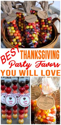 Grab the BEST Thanksgiving party favor ideas now! Easy and fun homemade DIY Thanksgiving party favors the whole crowd will love - kids Fall Party Favors, Party Favors For Adults, Christmas Party Favors, Wedding Favors, Christmas Decorations, Thanksgiving Favors, Friends Thanksgiving, Thanksgiving Parties, Thanksgiving Turkey
