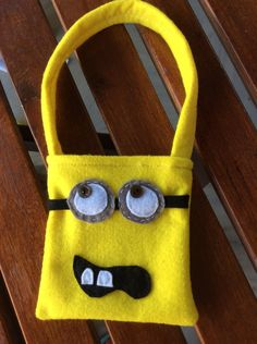 Ships everywhere. by Heartofstardust on Etsy Minion Bag, Minions, Minion Theme, Party Bags, Party Themes, Lunch Box, Felt, Tote Bag, Baby Showers