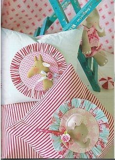 Darling pillows to make from Tone Finnanger