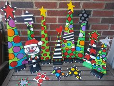 Christmas Art Projects, Christmas Yard Art, Christmas Wood, Christmas Signs, Winter Christmas, Christmas Time, Christmas Ornaments, Whoville Christmas, Preschool Christmas